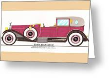 1923 Rolls Royce By Raymond H Dietrich Greeting Card by Jack Pumphrey