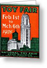 1926 New York City Toy Fair Poster Greeting Card by Historic Image