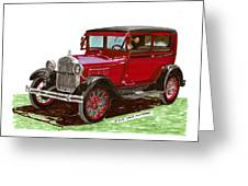 1928 Ford Model A Two Door Greeting Card by Jack Pumphrey