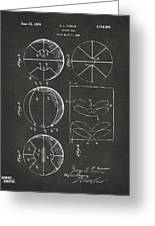 1929 Basketball Patent Artwork - Gray Greeting Card by Nikki Marie Smith