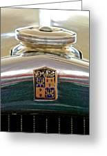 1930 Desoto K Hood Ornament Emblem Greeting Card by Jill Reger