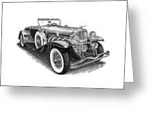 1930 Duesenberg Model J Greeting Card by Jack Pumphrey