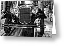 1930 Model T Ford monochrome Greeting Card by Steve Harrington