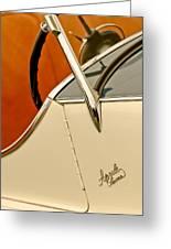 1931 Alfa Romeo 6c 1750 Gran Sport Aprile Spider Corsa Steering Wheel Greeting Card by Jill Reger