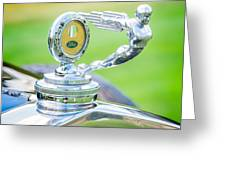 1931 Ford Model A Deluxe Fordor Hood Ornament Greeting Card by Sebastian Musial