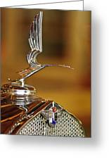 1931 Lasalle Hood Ornament Greeting Card by Jill Reger