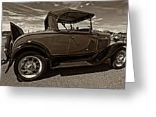 1931 Model T Ford Monochrome Greeting Card by Steve Harrington
