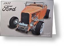 1932 Ford Greeting Card by Paul Kuras