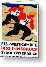 1933 Austrian Ski Race Poster Greeting Card by Historic Image