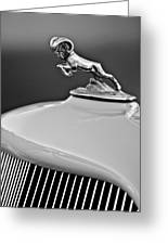 1933 Dodge Ram Hood Ornament 2 Greeting Card by Jill Reger