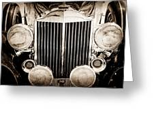 1933 Packard 12 Convertible Coupe Classic Car Greeting Card by Jill Reger