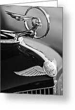 1933 Pontiac Hood Ornament 4 Greeting Card by Jill Reger