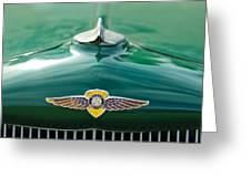 1934 Dodge Hood Ornament Emblem Greeting Card by Jill Reger