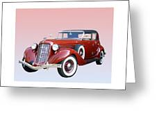 1935 Auburn 8 Phaeton 851 Greeting Card by Jack Pumphrey