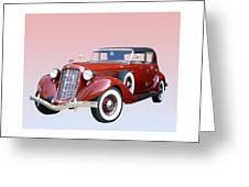 1935 Auburn 8 Phaeton 851 Greeting Card by Jack Pumphrey