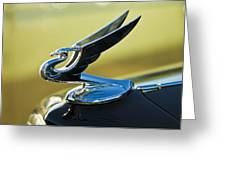 1935 Chevrolet Sedan Hood Ornament 2 Greeting Card by Jill Reger