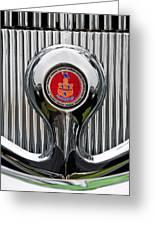 1935 Pierce-arrow 845 Coupe Emblem Greeting Card by Jill Reger