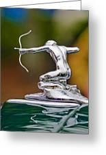 1935 Pierce-arrow 845 Coupe Hood Ornament Greeting Card by Jill Reger
