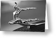1935 Pontiac Sedan Hood Ornament 4 Greeting Card by Jill Reger