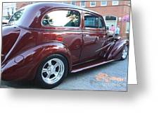 1937 Chevy Two Door Sedan Rear and Side View Greeting Card by JOHN TELFER