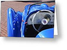 1937 Peugeot 402 Darl'mat Legere Speacial Sport Roadster Recreation Steering Wheel Emblem Greeting Card by Jill Reger