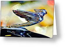 1938 Cadillac V-16 Hood Ornament 2 Greeting Card by Jill Reger