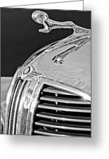 1938 Dodge Ram Hood Ornament 4 Greeting Card by Jill Reger