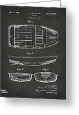 1938 Rowboat Patent Artwork - Gray Greeting Card by Nikki Marie Smith