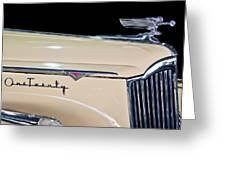 1941 Packard Hood Ornament Greeting Card by Jill Reger