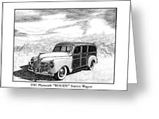 1941 Plymouth Woody Greeting Card by Jack Pumphrey