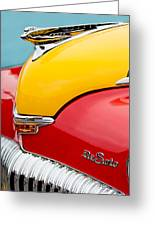 1946 Desoto Skyview Taxi Cab Hood Ornament Greeting Card by Jill Reger