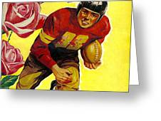 1946 Rose Bowl Program Greeting Card by David Patterson