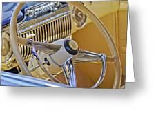 1947 Cadillac 62 Steering Wheel Greeting Card by Jill Reger