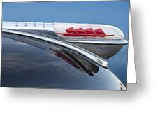 1947 Plymouth Hood Ornament Greeting Card by Jill Reger