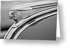 1948 Pontiac Chief Hood Ornament 2 Greeting Card by Jill Reger