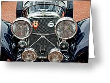 1950 Jaguar Xk120 Roadster Grille Greeting Card by Jill Reger