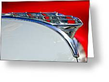 1950 Plymouth Hood Ornament 3 Greeting Card by Jill Reger