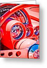 1950s Corvette Greeting Card by Phil 'motography' Clark