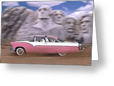 1950s Family Vacation Panoramic Greeting Card by Mike McGlothlen