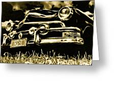 1951 Ford V8 Convertible Greeting Card by Phil 'motography' Clark