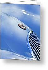 1951 Jaguar Grille Emblem Greeting Card by Jill Reger