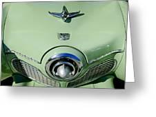 1951 Studebaker Commander Hood Ornament 2 Greeting Card by Jill Reger