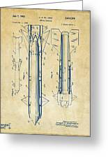 1953 Aerial Missile Patent Vintage Greeting Card by Nikki Marie Smith