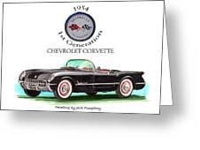 1954 Corvette First Generation Greeting Card by Jack Pumphrey
