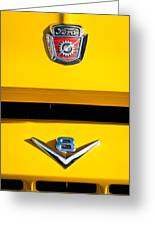 1954 Ford F-100 Custom Pickup Truck Emblems Greeting Card by Jill Reger