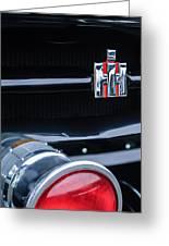 1954 International Harvester R140 Woody Grille Emblem Greeting Card by Jill Reger
