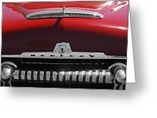 1954 Mercury Monterey Hood Ornament Greeting Card by Jill Reger