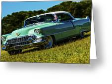 1955 Cadillac Coupe De Ville Greeting Card by motography aka Phil Clark