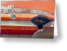 1955 Chevrolet Belair Dashboard Greeting Card by Jill Reger