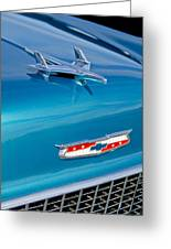 1955 Chevrolet Belair Hood Ornament 7 Greeting Card by Jill Reger